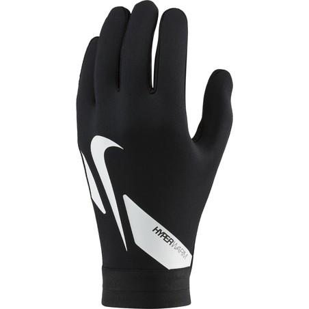 Gants joueur Nike Academy Hyperwarm noir blanc