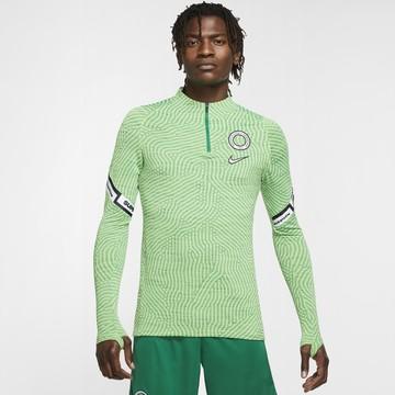 Sweat zippé Nigéria Strike vert 2020/21