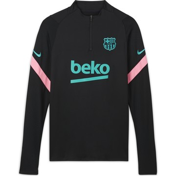 Sweat zippé FC Barcelone noir rose 2020/21