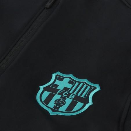 Sweat zippé FC Barcelone noir rose 2020/21