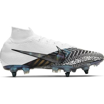 Nike Mercurial Superfly VII Elite SG-Pro Anti-Clog blanc noir