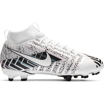 Nike Mercurial Superfly junior VII Academy FG/MG blanc noir