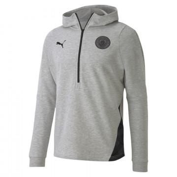 Sweat à capuche Manchester City Fleece gris 2020/21
