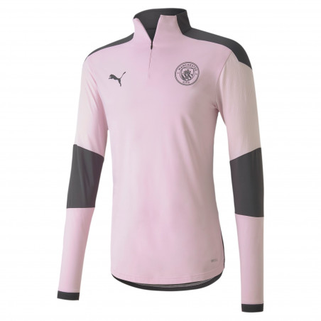 Sweat zippé Manchester City rose noir 2020