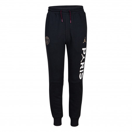 Pantalon survêtement junior PSG Jordan Fleece noir blanc 2020/21