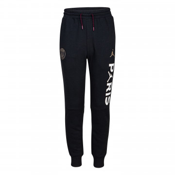 Pantalon survêtement junior PSG Jordan Fleece noir blanc 2020/21