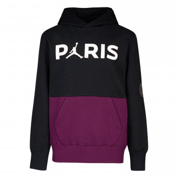 Sweat à capuche junior PSG Jordan noir violet 2020/21