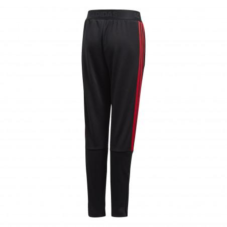 Pantalon survêtement junior adidas noir rouge