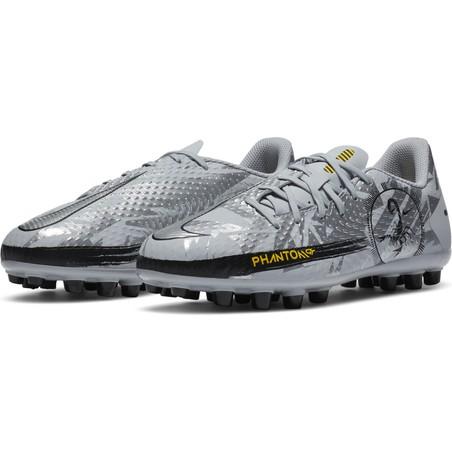 Nike Phantom GT junior Academy AG gris jaune