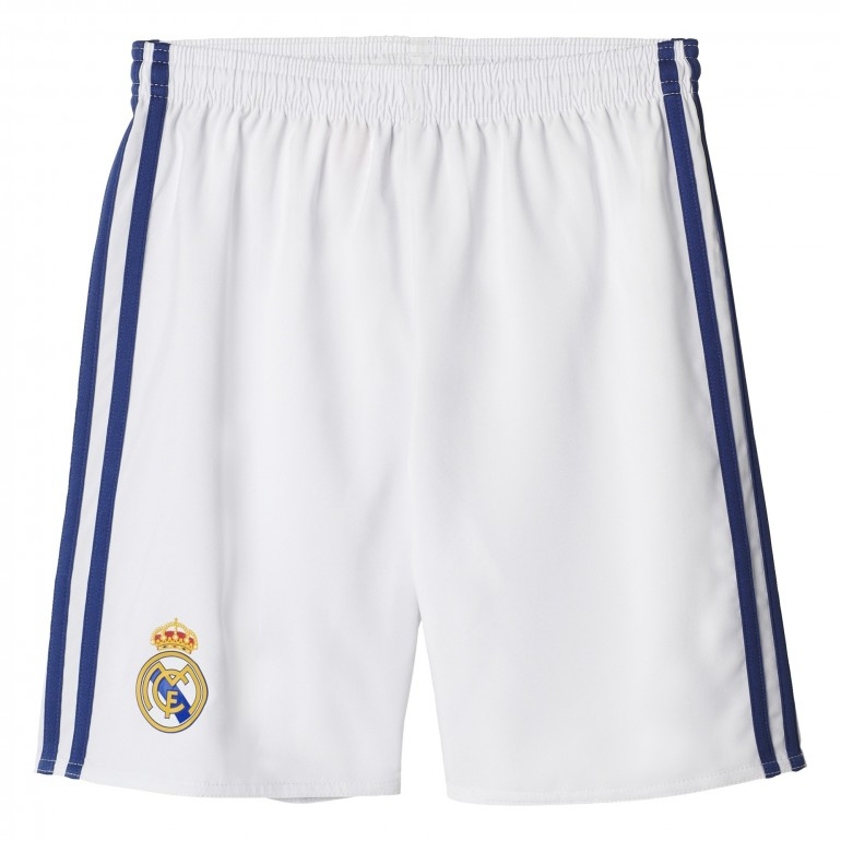 Short Real Madrid domicile junior blanc 2016 - 2017