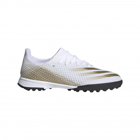 adidas X junior Ghosted.3 Turf blanc or