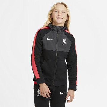 Veste à capuche junior Liverpool noir rouge 2020/21