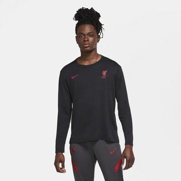 T-shirt manches longues Liverpool noir rouge 2020/21
