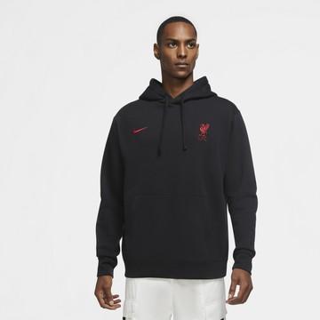 Sweat hoodie Liverpool noir rouge 2020/21