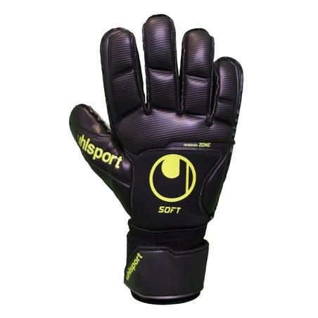 Gants gardien UHLSPORT Soft Pro noir jaune