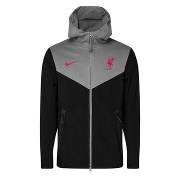 Veste survêtement Liverpool TechFleece gris rouge 2020/21