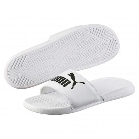 Sandales Puma blanc noir