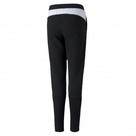 Pantalon survêtement junior OM Evostripe noir blanc 2020/21