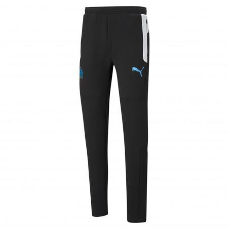 Pantalon survêtement OM Evostripe noir blanc 2020/21