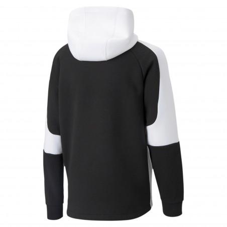 Sweat junior OM Evostripe noir blanc 2020/21