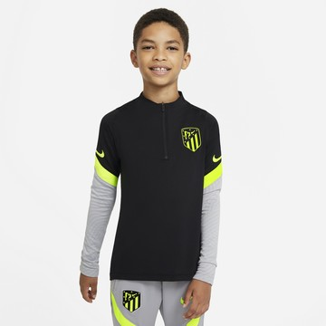 Sweat zippé junior Atlético Madrid noir jaune 2020/21