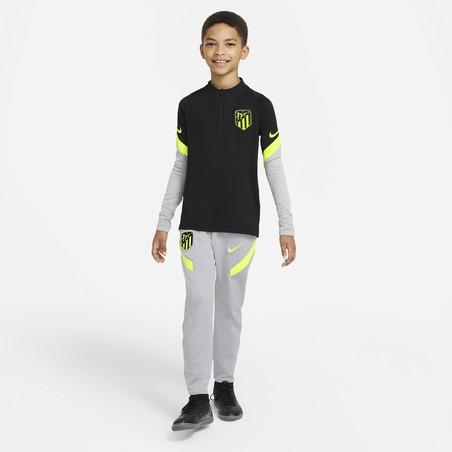 Sweat zippé junior Atlético Madrid noir jaune 2020/21