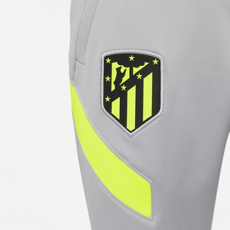 Pantalon survêtement junior Atlético Madrid gris jaune 2020/21