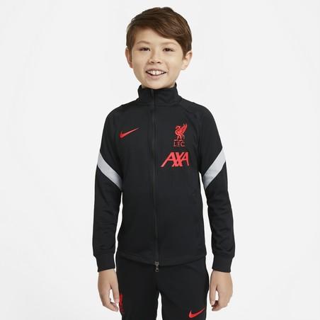 Ensemble survêtement junior Liverpool noir rouge 2020/21