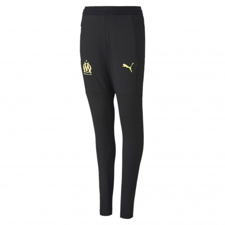 Pantalon survêtement OM noir jaune 2020/21