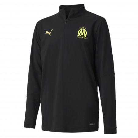 Sweat zippé junior OM noir jaune 2020/21