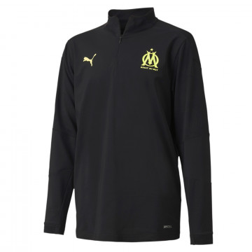 Sweat zippé junior OM noir jaune 2020/21