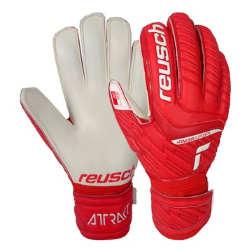 Gants gardien Reusch Attrakt Grip Finger Support rouge