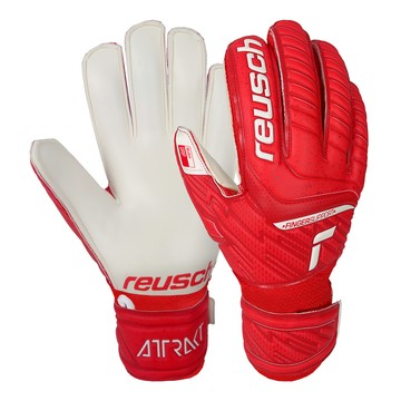 Gants gardien Reusch junior Attrakt Grip Finger Support rouge