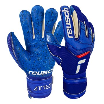 Gants gardien Reusch Attrakt Fusion Finger Support bleu