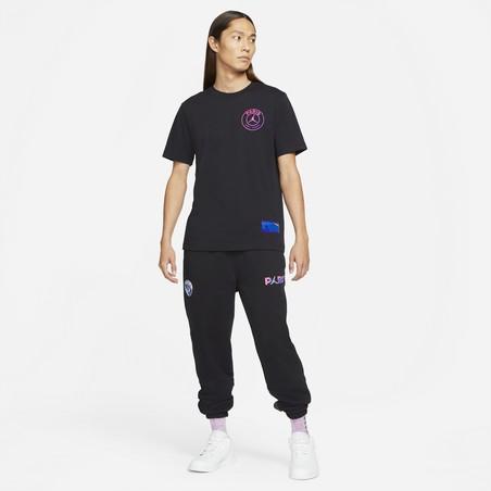 T-shirt PSG Jordan noir violet 2020/21