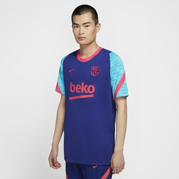 Maillot entraînement FC Barcelone bleu rouge 2020/21