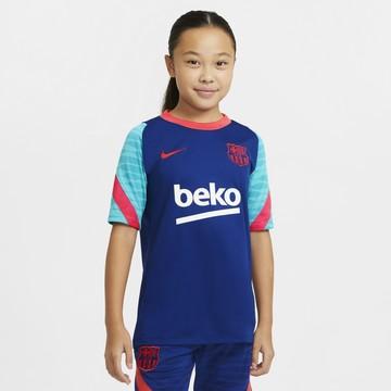 Maillot entraînement junior FC Barcelone bleu rouge 2020/21
