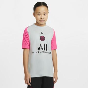 Maillot entraînement junior PSG gris rose 2020/21