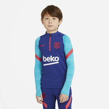 Sweat zippé junior FC Barcelone bleu rouge 2020/21