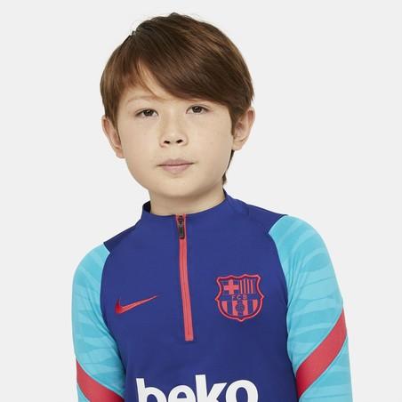 Sweat zippé junior FC Barcelone bleu rouge 2020/21