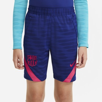 Short entraînement junior FC Barcelone bleu rouge 2020/21