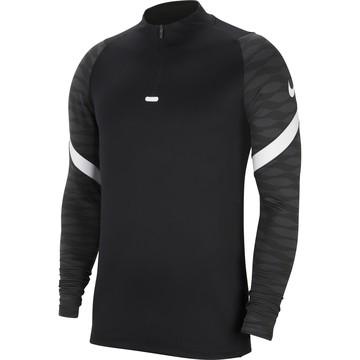 Sweat zippé Nike Strike noir blanc