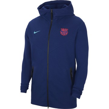 Veste survêtement FC Barcelone TechFleece bleu rouge 2020/21