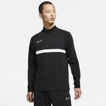 Sweat zippé Nike Academy noir blanc