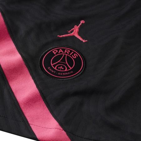 Short entraînement PSG Jordan noir rose 2020/21