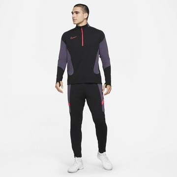 Ensemble survêtement sweat Nike Academy noir violet