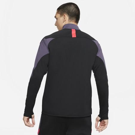 Ensemble survêtement sweat Nike Academy noir violet