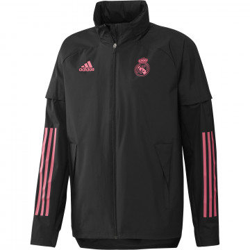 Veste imperméable Real Madrid noir rose 2020/21