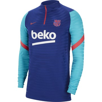 Sweat zippé FC Barcelone VaporKnit bleu rouge 2020/21