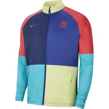 Veste imperméable FC Barcelone bleu jaune 2020/21